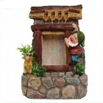 Gnome House Indoor Water Fountain(19.8 X 17 X 27.8 CM)