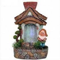 Gnome House Shape Water Fountain(18 X 17.2 X 28 CM)