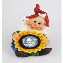 Gnome Sunflower Solar Light