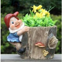 Gnome With Garden Planter(19.4 X 16.1 X 17.2 CM )