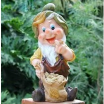 Gnome With Sack Garden Sculpture