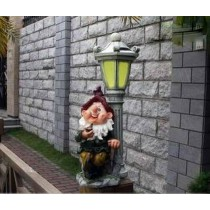 Gnome With Smoke Pipe Garden Sculptures