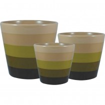 Gold Ceramic Planter Set of 3 Pcs