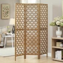 Gold Frame 3-Panel Folding Screen