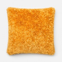 Gold Handmade Polyester Square Cushion