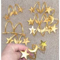 Gold Metal Spring Shaped Napkin Ring Set