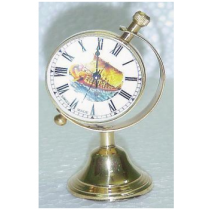 "Gold Paper Weight Clock On Trophy Stand, 4"" X 2.5"" X 2"""
