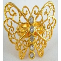 Gold Plated Butter Fly Napkin Ring