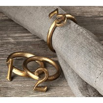 Gold Plated Metal Iron Napkin Ring