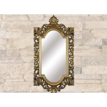 Golden Brown Wall Hanging Mirror