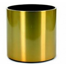 Golden Color 35 Inch Cylinder Shaped Metal Planter