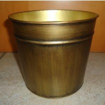 Golden color Designer Metal Oval Flower Pot