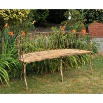 Golden Rustic Finish Iron Garden Bench
