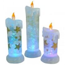 Golden Star Design LED Acrylic Liquid Christmas Candle(Set-3)