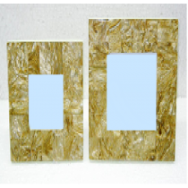 Golden Texture photo frame 3 x 3""