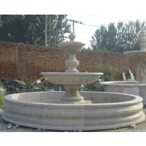 Granite Marble Decorative Curved  Fountain Pedestal
