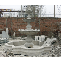 Granite Marble Decorative Curved Fountain Pedestal
