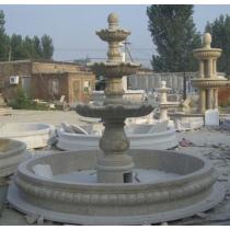 Granite Marble Medium Three Tiered Curved Fountain