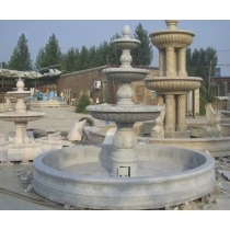 Granite Marble Three Tiered Marble Fountain Pedestal