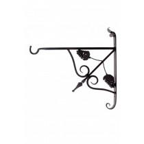Grape Design Durable Wrought Iron Hanging Basket Bracket