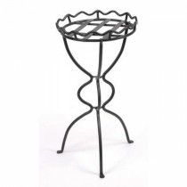 Graphite Powder Coated Black Metal Plant Stand