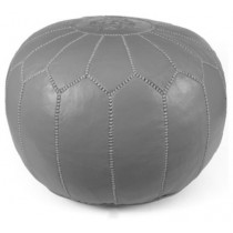 Gray Color Round Floor Pouf