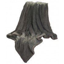 Gray Solid Soft Plush Sherpa Fleece Throw