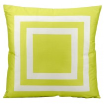Green 20 Inch Square Shape Polyester Cushion
