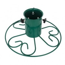 Green 5 Inch Ornate Round Christmas Tree Stand