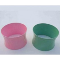 Green And Pink Iron Napkin Ring (3 cm. Width)