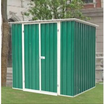 Green and White Finish Garden Shed