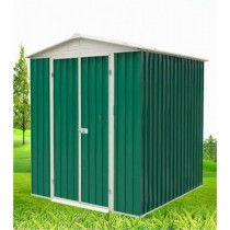 Green and White Powder Coated Superior Finish Garden Shed