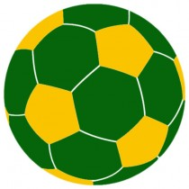 Green And Yellow Large Beanbag Soccer