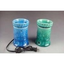 Green & Blue Decorative Ceramic Electric Wax Warmer Oil Burner(Set -2)