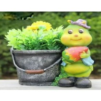 Green Caterpillar Decorative Garden Planter