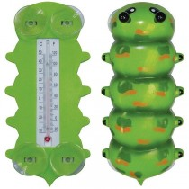 Green Caterpillar Design Window Thermometer