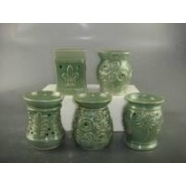 Green Ceramic Electric Wax Warmer With line Oil Burner