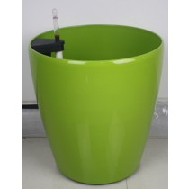 Green Color Round Shape Plastic Self-Watering Planter