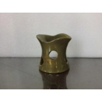 Green Curved Hole Pattern Ceramic Oil Burner