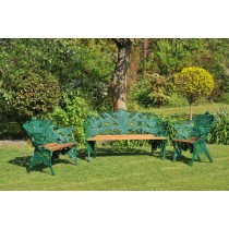 Green Hand Cast Aluminium Garden Bench Set