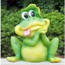 Green Happy Frog Garden Sculpture