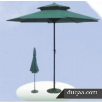 Green Layered Pattern Garden  Umbrella