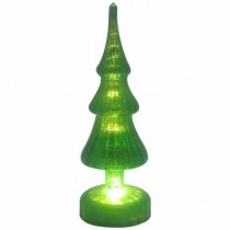 Green LED Mercury Glass Christmas Tree Light