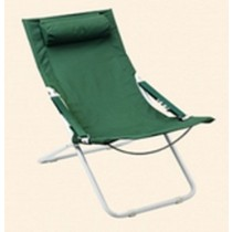Green & Orange Beach Chair With Powder Coating