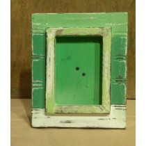 Green Painted Shabby Chic Wooden Photo Frame