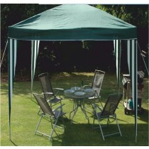 Green Polyester Outdoor Garden Gazebo Tent
