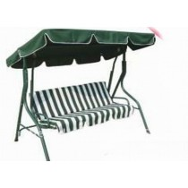 Green Polyester Two Seater Garden Swing
