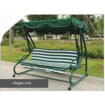 Green Polyester Two Seater Outdoor Garden Swing