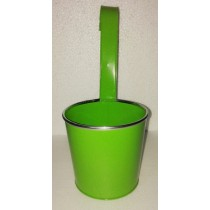 Green Round 13 Inch Metal Pot With Handle