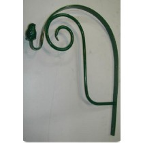Green Round With Flower Design Hanging Basket Bracket